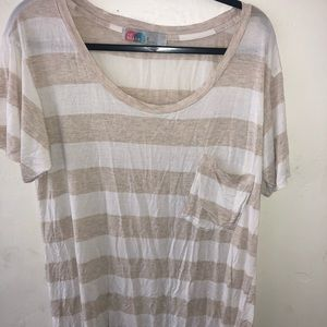 Free People long striped T-shirt
